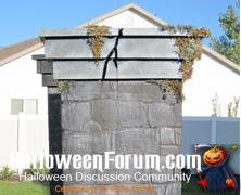 Nightmare on Bayshore Crypt Cemetery Columns