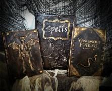 Embossed Leather Books